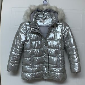 Silver Jacket with Hood